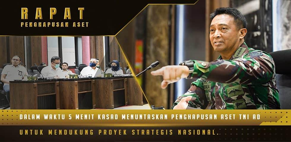 Kasad Rapat dengan Kodam III/SLW dan Pemerintah Banten Terkait Penghapusan Aset Tanah TNI AD