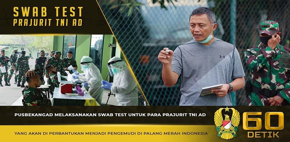 Yon Bekang 3/Rat Mengadakan Tes Swab untuk Prajurit yang Akan Bertugas Membantu PMI