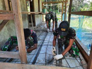 Jelang Purna Tugas, Satgas Yonif 133 Bangun Musholla Al Mujahidin di Dusun Ukit-Ukit
