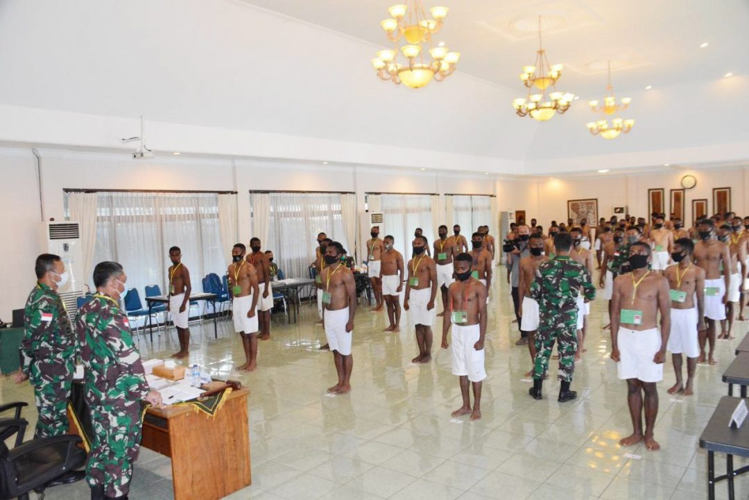 Korem 172/PWY Kirim 229 Pemuda Papua Ikuti Seleksi Caba PK Tingkat Pusat