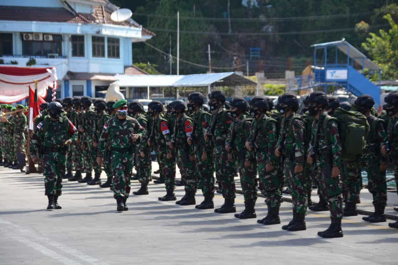 Danrem 172/PWY Sambut Kedatangan Satgas Yonif PR 432/WSJ di Tanah Papua