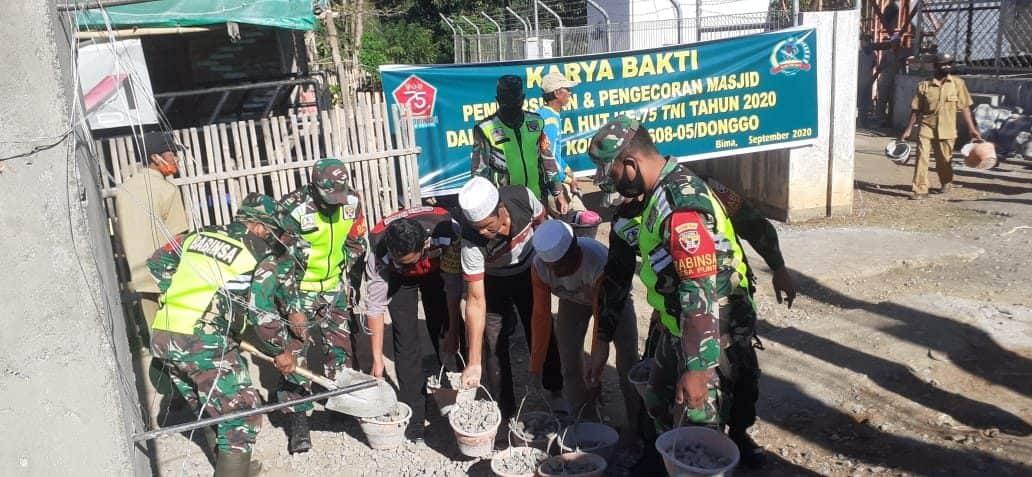 Sinergi Untuk Negeri, Kemanunggalan Kodim 1608/Bima Bersama Rakyat Dalam Pembangunan Masjid