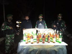 Lagi-Lagi, Satgas Yonif 623/BWU Amankan Miras di Perbatasan RI-Malaysia