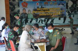 Sambut Peringatan HUT ke 75 TNI, Korem 174 Merauke Gelar Donor Darah