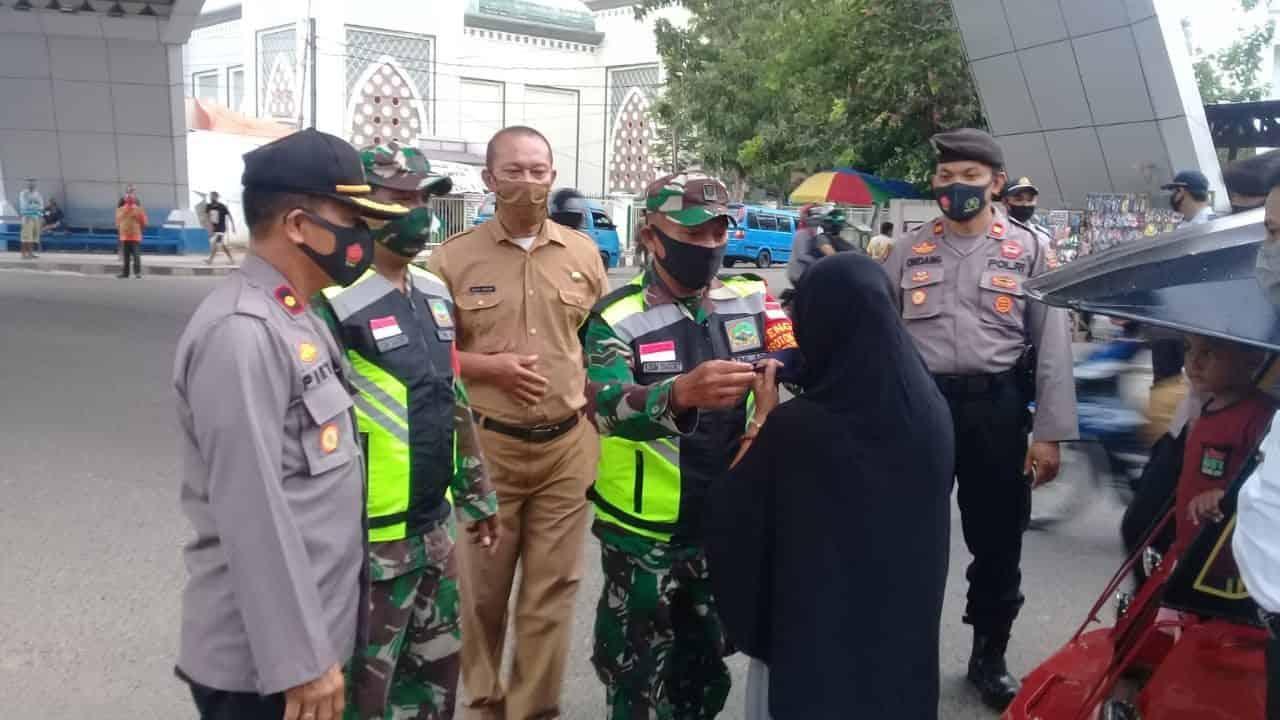 Bersama Tiga Pilar, Korem 133/NWB Gelar Penegakan Disiplin Cegah Covid-19 di Gorontalo