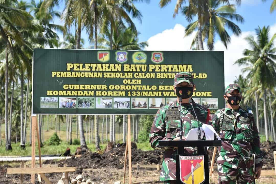 Peletakan Batu Pertama , Gorontalo Akan Segera Memiliki Secaba TNI AD