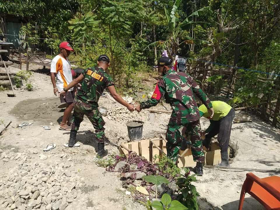 Jambanisasi, Satgas Yonarmed 3/105 Tarik Peduli Kesehatan Lingkungan Masyarakat Perbatasan