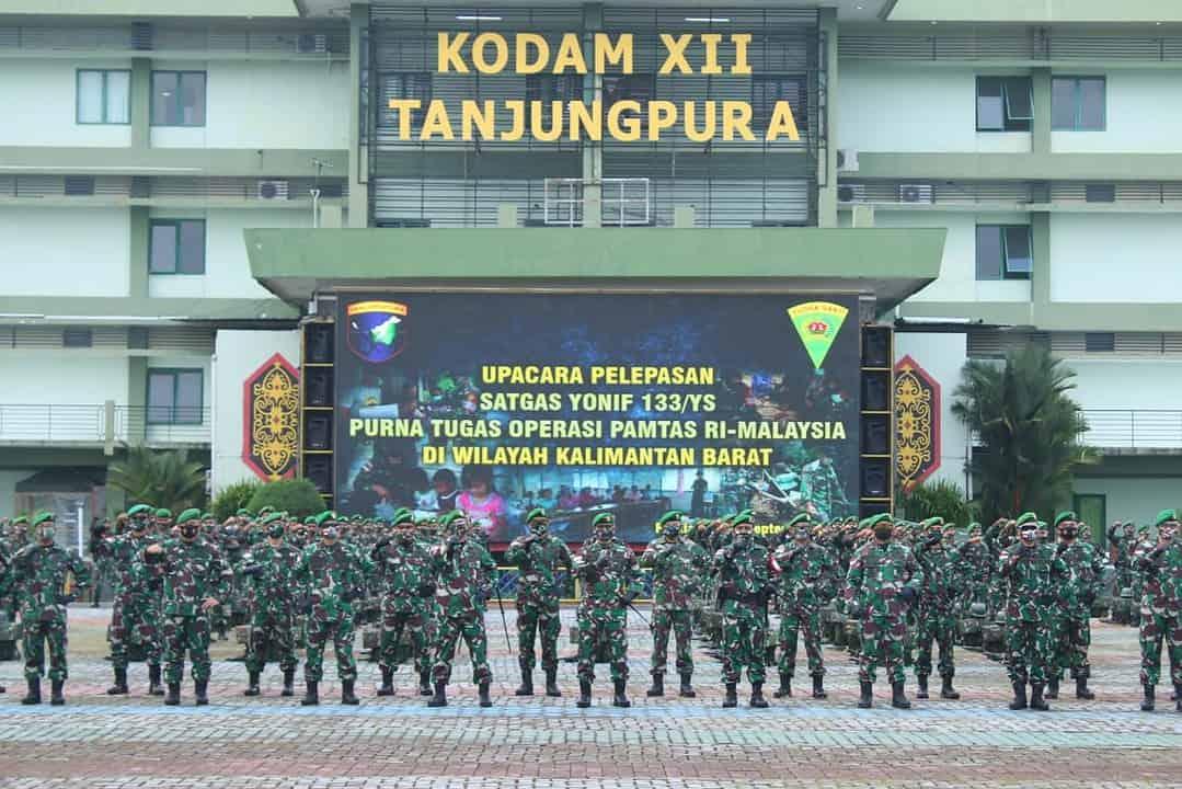 10 Bulan Jaga Perbatasan RI-Malaysia, Satgas Yonif 133/YS Berhasil Gagalkan Ratusan Kegiatan Ilegal
