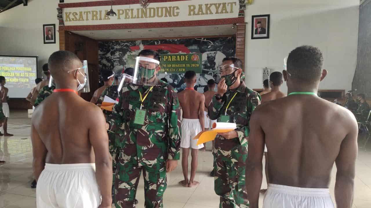 Sebanyak 53 Pemuda Terbaik Dari Papua Selatan Ikuti Seleksi Pusat Secaba PK TA. 2020