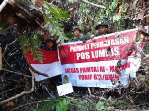 Satgas Pamtas Yonif 623/BWU Tuntaskan Patroli Patok Perbatasan RI-Malaysia Selama 5 Bulan