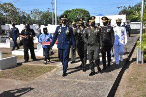 Danrem 174 Merauke Pimpin Ziarah Nasional Dalam Rangka HUT TNI ke 75