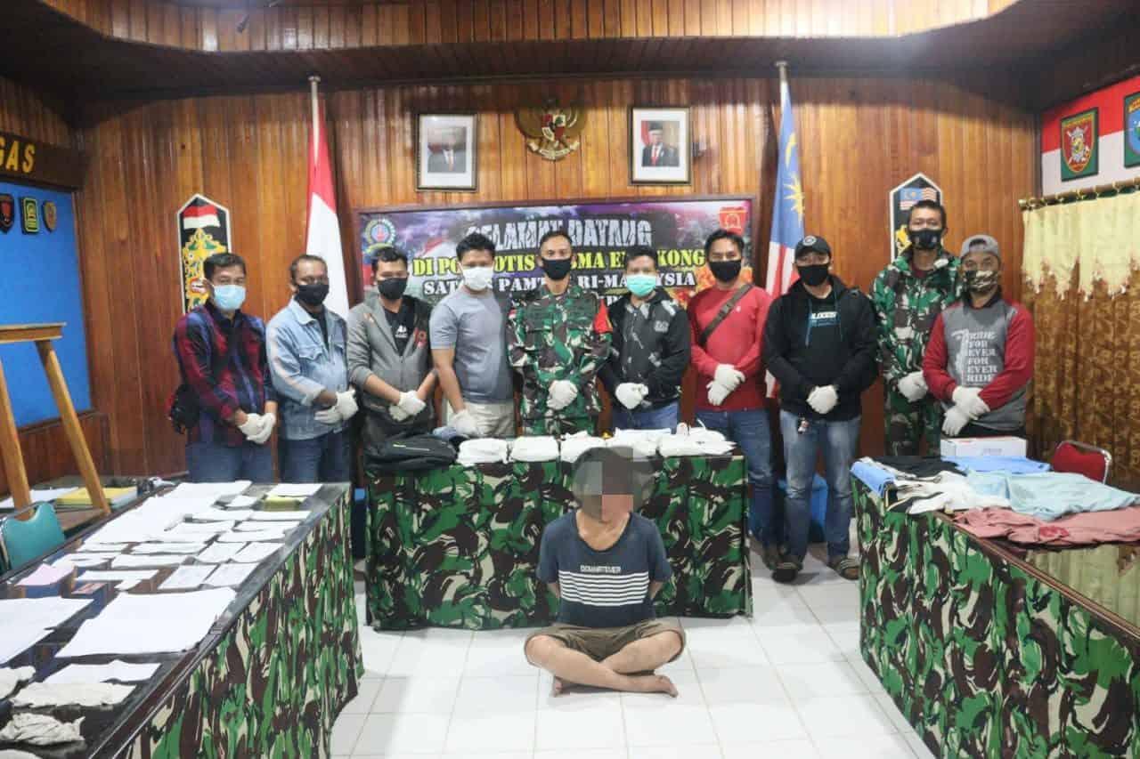 Kapendam XII : Gagalkan Penyelundupan 5 Kg Sabu, Satgas Pamtas Yonif 642 Amankan PMI Ilegal