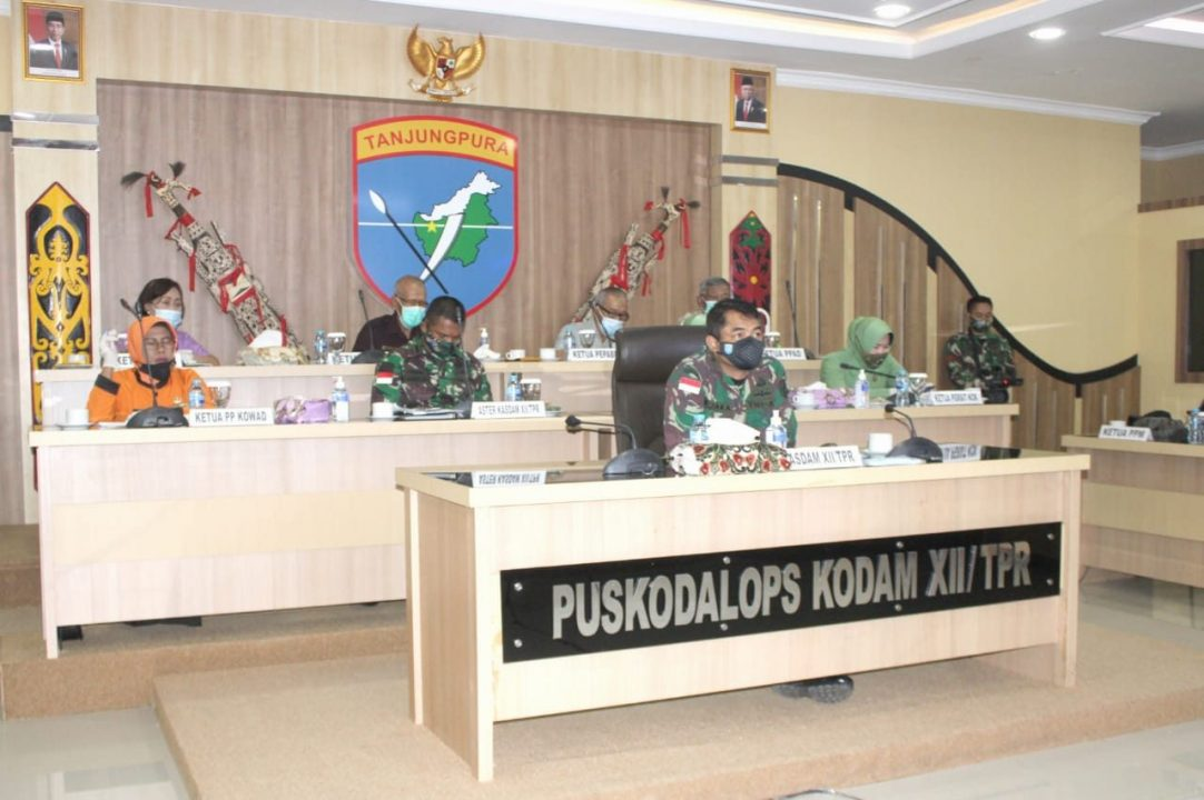 Digelar Virtual, Kodam XII/Tpr Ikuti Komsos TNI dengan KBT