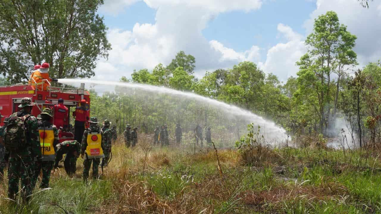 Antisipasi Bahaya Kebakaran Hutan dan Lahan, Korem 174 Merauke Gelar Latgulben Karhutla