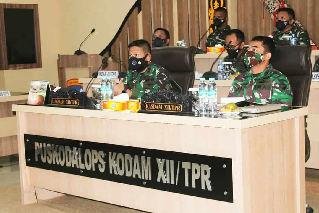 Pangdam XII/Tpr : Prajurit Harus Jadi Duta Penegakan Disiplin Protokol Kesehatan