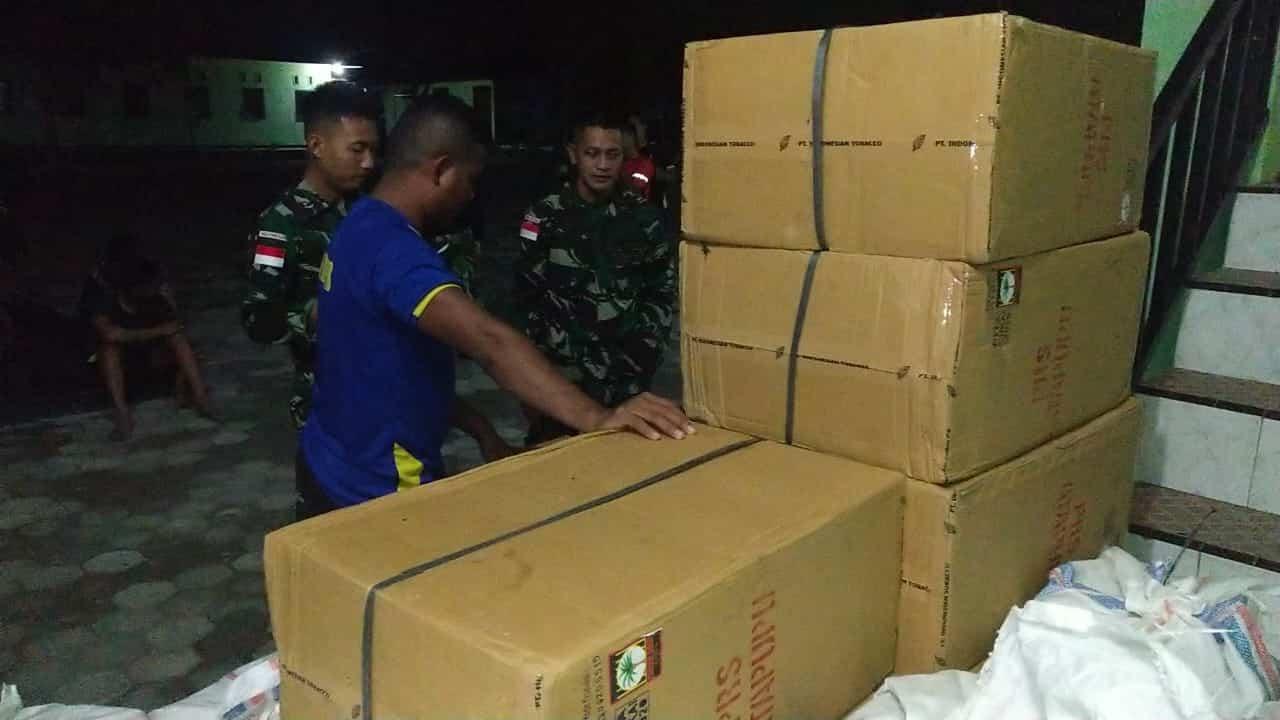 Penyeludupan 22 Karung Tembakau Digagalkan Satgas Yonif RK 744 di Perbatasan RI-RDTL