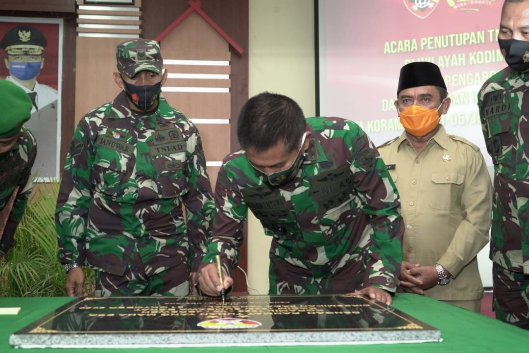 Pangdam IX/Udayana Resmikan 2 Koramil Jajaran Kodim 1628/Sumbawa Barat