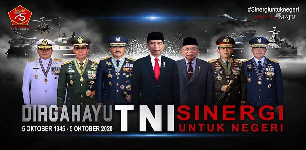 """DIRGAHAYU KE-75 TNI """"SINERGI UNTUK NEGERI"""""""
