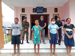Rumah Pintar Negeri Tuhaha bersama Satgas Yonif RK 732 Cerdaskan Anak Maluku