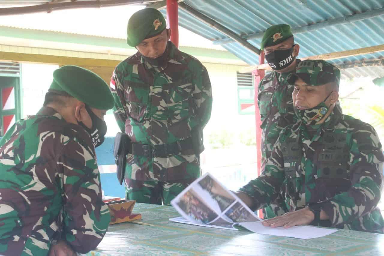Laksanakan Wasdal, Sahli Pangdam I/BB Kunjungi Satgas Yonif 125