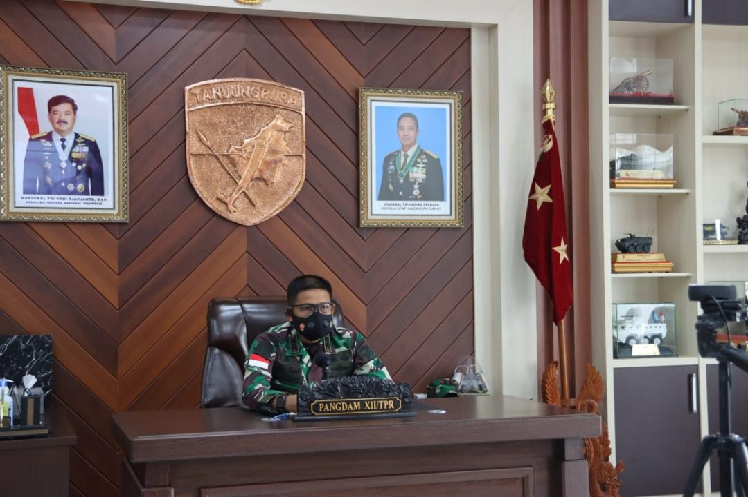 Webinar Peringati Hari Pahlawan, Pangdam XII/TPR Ajak Kompenen Bangsa Bangun Kebersamaan