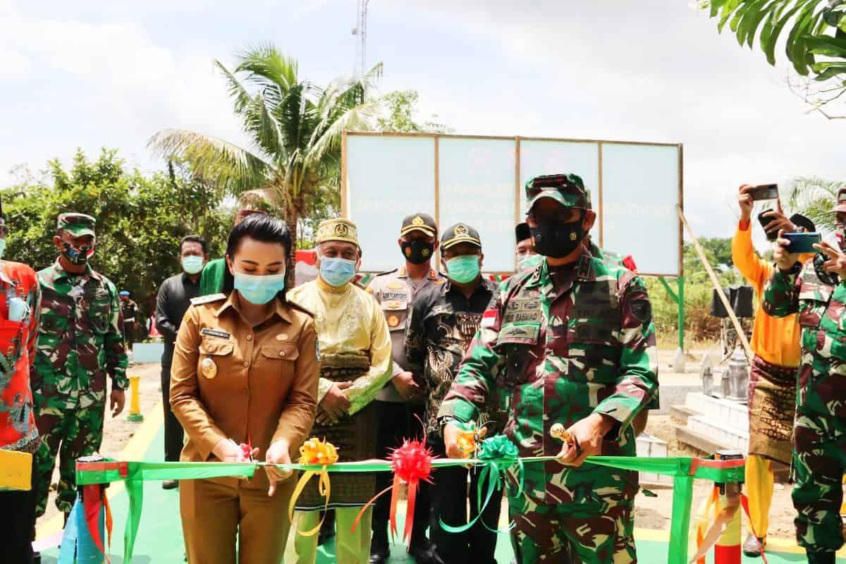 Usai Renovasi, Pangdam XII/TPR Resmikan Makam Pangeran Nata Kusuma