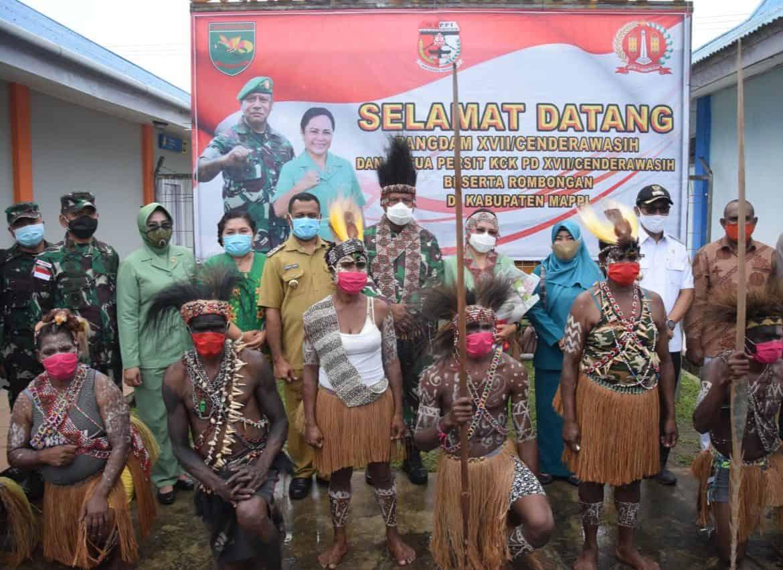 Danrem 174 Merauke Dampingi Pangdam XVII/Cendwrawasih Tinjau Lokasi Pembangunan Kodim di Kabupaten Mappi