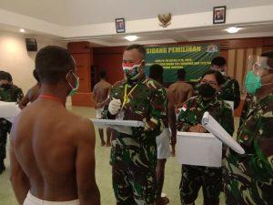 Kasrem 172/PWY Pimpin Sidang Pemilihan Cata PK TNI AD Sub Panda Jayapura