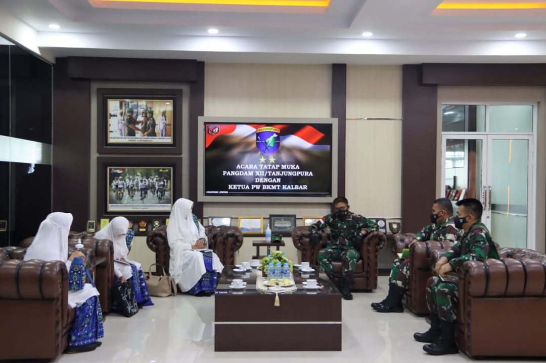 Temui Pangdam XII/TPR, PW BKMT Kalbar akan Gelar Dakwah Wisata Lintas Borneo