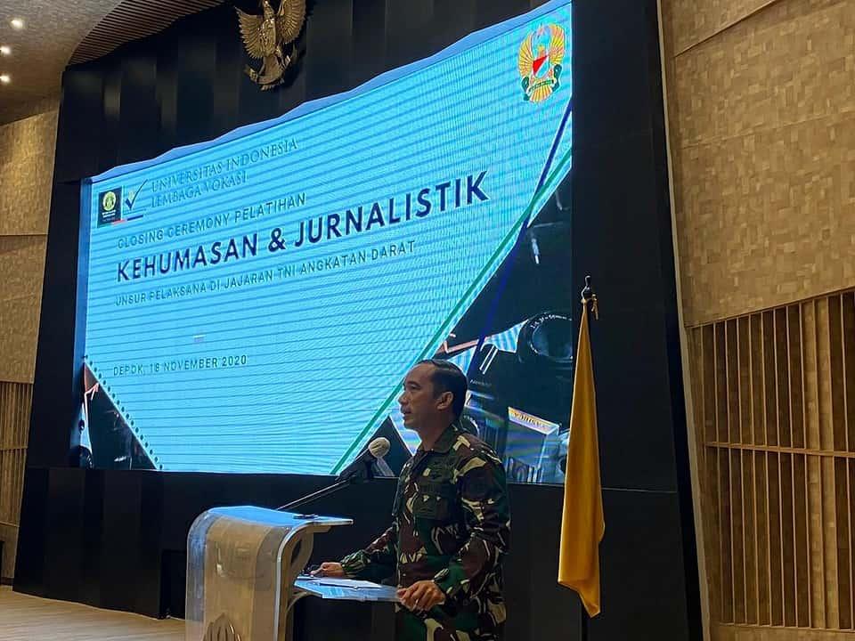 Sinergitas TNI AD dengan Program Pendidikan Vokasi UI, Sebagai Upaya Menciptakan Prajurit Unggul