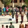 Satgas Pamtas Yonif 623/BWU Latih Bela Negara Pelajar di Perbatasan