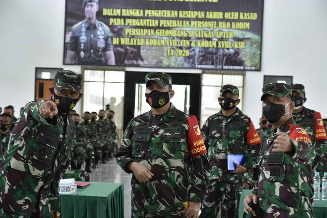 Pangdam XIII/Merdeka Ingatkan Jangan Sombong dan Besar Kepala Kepada Satgas Apter BKO
