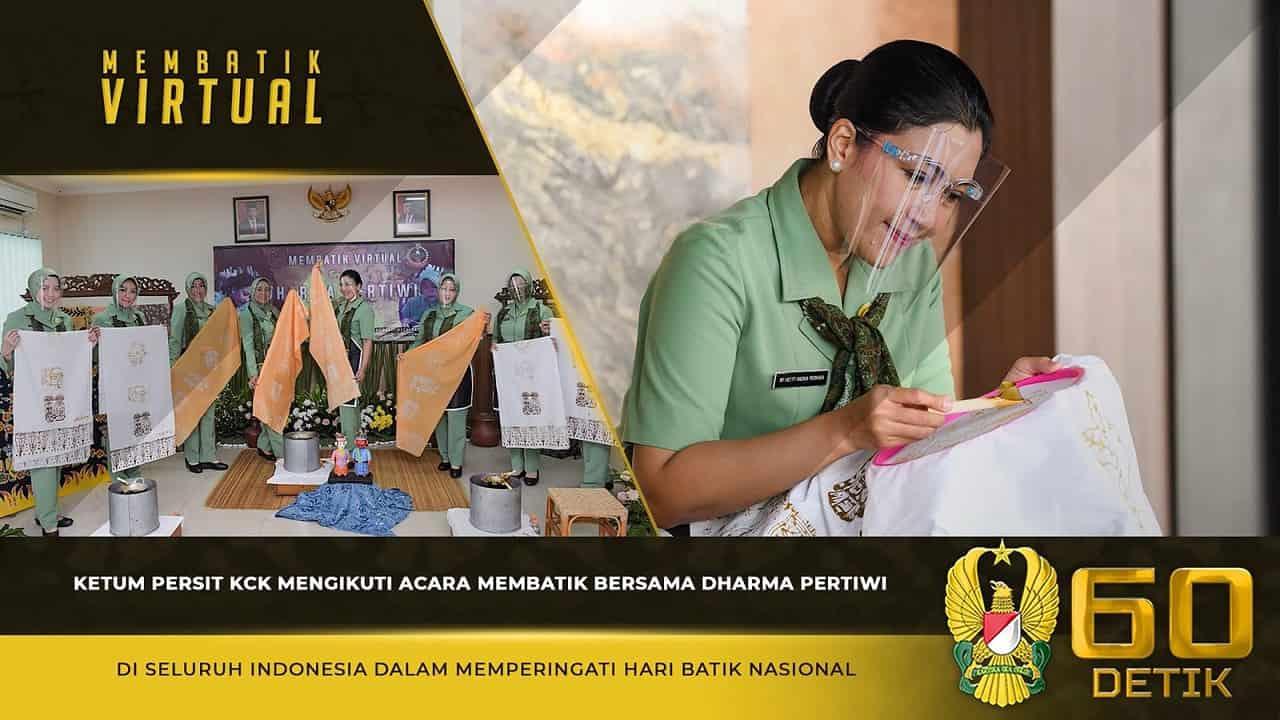 Ketum Persit KCK Mengikuti Acara Membatik Bersama Dharma Pertiwi di Seluruh Indonesia 