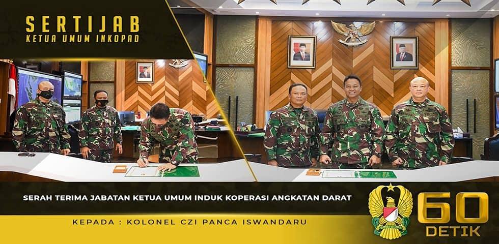 Sertijab Ketua Umum Induk Koperasi Angkatan Darat