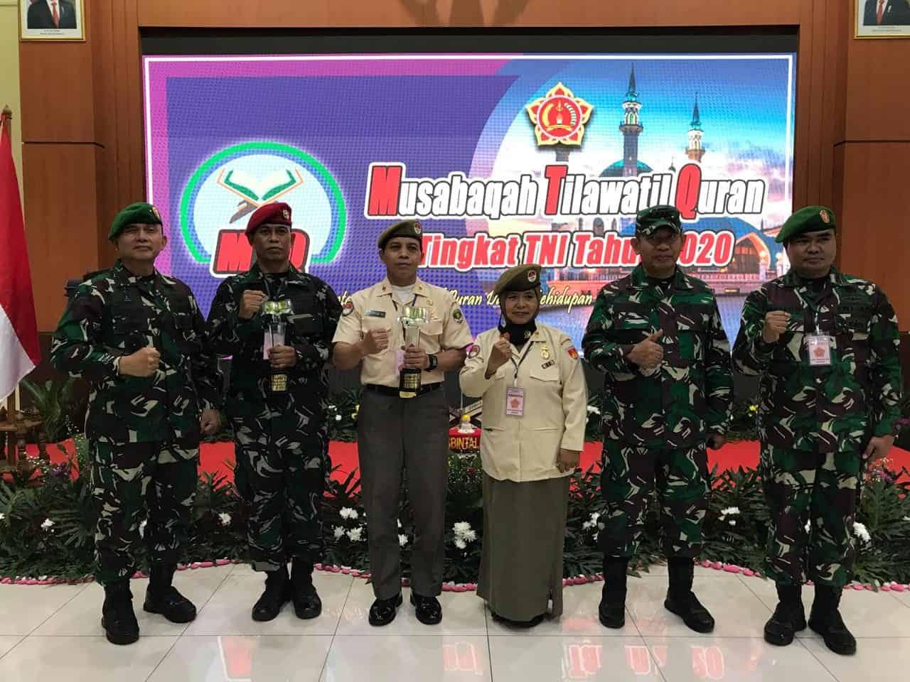 Angkatan Darat Sabet Tiga Kategori Kejuaraan Lomba MTQ TNI