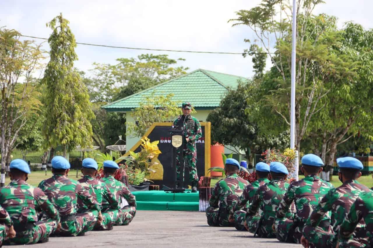 Tinjau Kesiapan Tugas Perdamaian Dunia, Pangdam XII/Tpr: Laksanakan Tugas Sebagai Kehormatan Negara