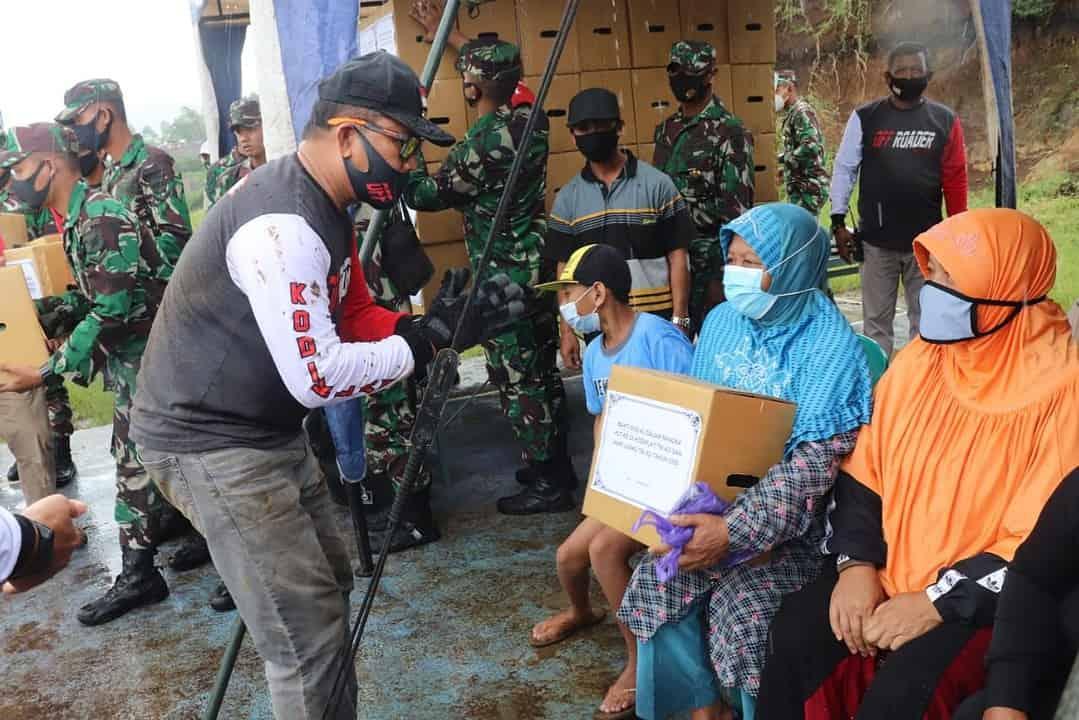 Kodiklatad Gelar Bhaksos HUT ke-26 dan Hari Juang TNI AD Tahun 2020 di Wilayah Malang Raya