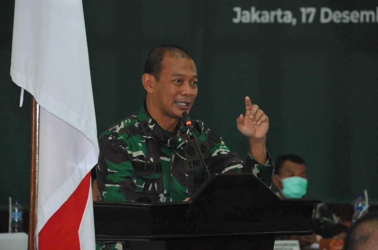 Aspers Kasad Buka Rapat Evaluasi Pembinaan Mental dan Sejarah TNI AD