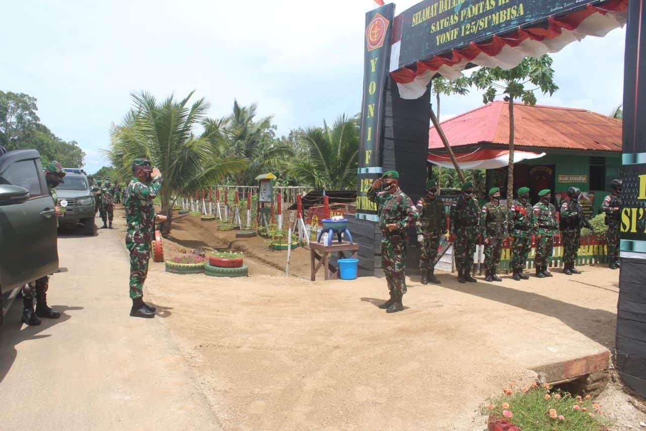 Dankolakops Korem 174/ATW Kunjungi Pos Jajaran SSK D Satgas Pamtas Yonif 125/Si'mbisa