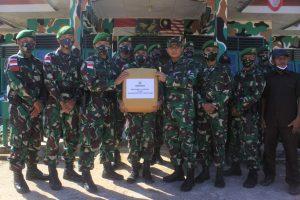 Danrem 101/Antasari Kunjungi Satgas Yonif 623/BWU di Nunukan