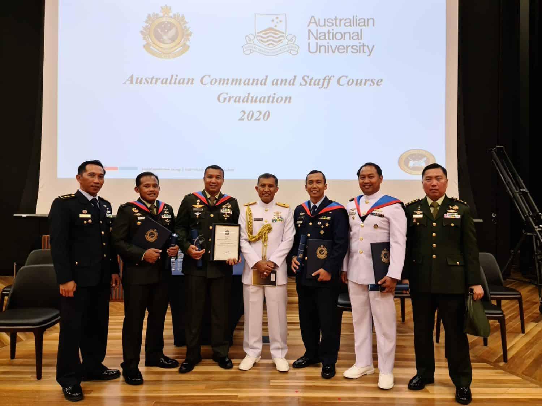 Duta TNI Lulus Sebagai Siswa Terbaik Internasional Pendidikan Sesko Angkatan di Australia