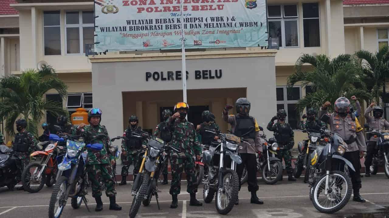 Wujudkan Situasi Kondusif Jelang Pilkada 2020, TNI Polri bersinergi Dalam Patroli Bersama