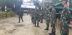 Kasdam III/Slw Kunjungi Satgas Pamtas Yonif 312/KH di Perbatasan RI-PNG