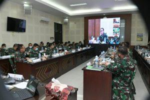 Srenaad Gelar Rapat Evaluasi Sistem Informasi TNI AD