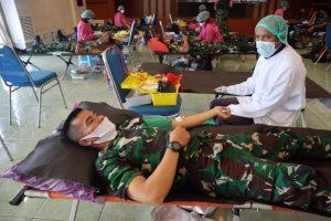 Ratusan Kantong Darah Prajurit Korem 172 Untuk Sesama yang Membutuhkan