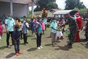 Sukacita di Hari Natal, Satgas Yonif 125 Gelar Pengobatan Gratis di Perbatasan RI-PNG
