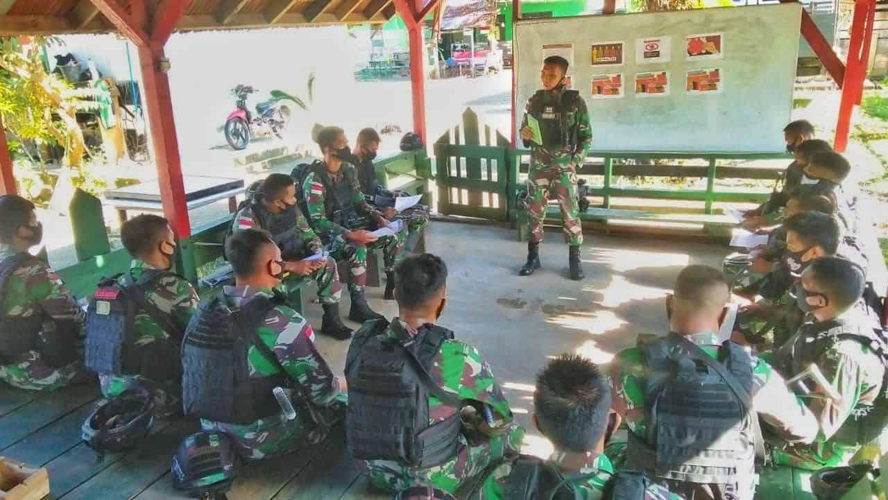 Prajurit Kostrad di Perbatasan RI-PNG Jaga Netralitas TNI Dalam Pilkada
