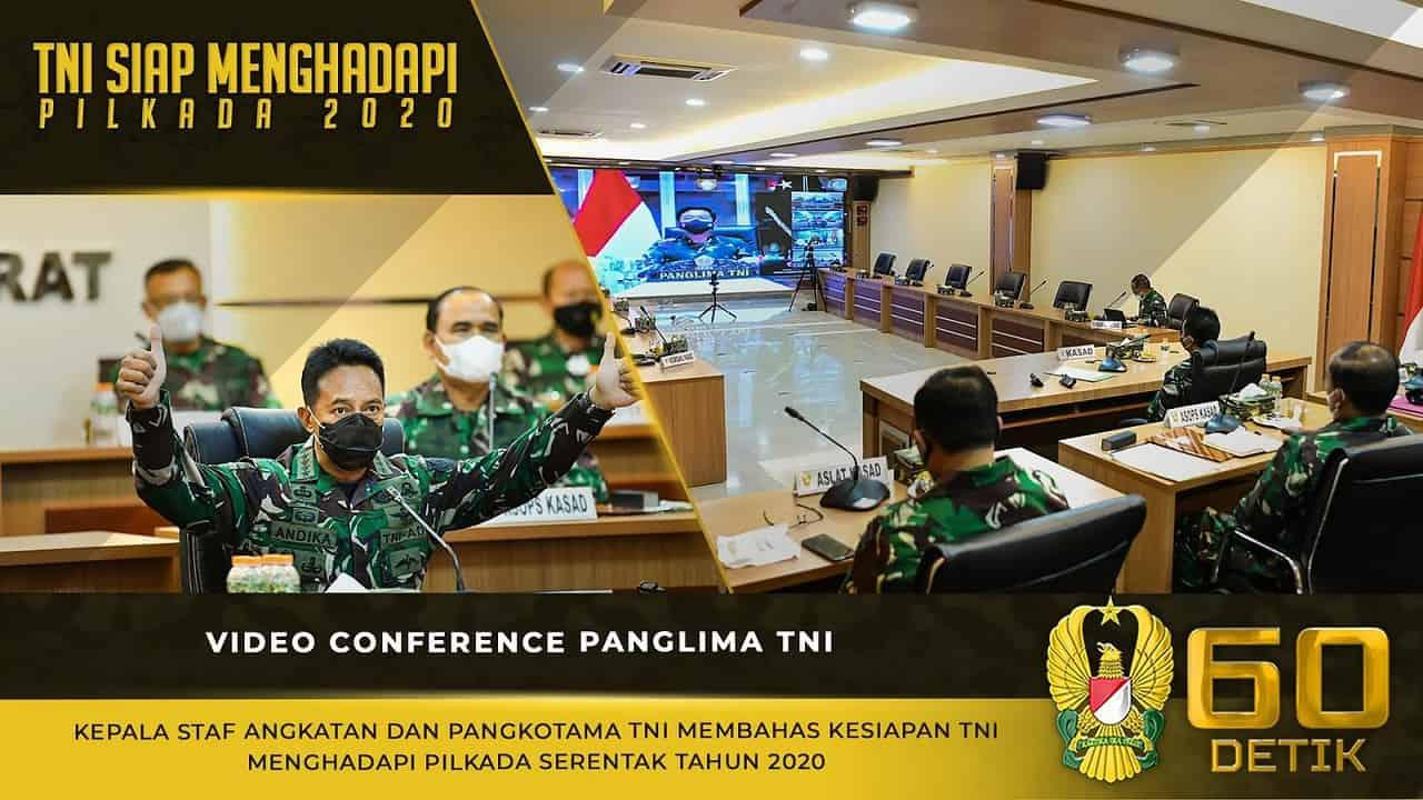 Video Conference Panglima TNI, Kepala Staf Angkatan dan Pangkotama TNI