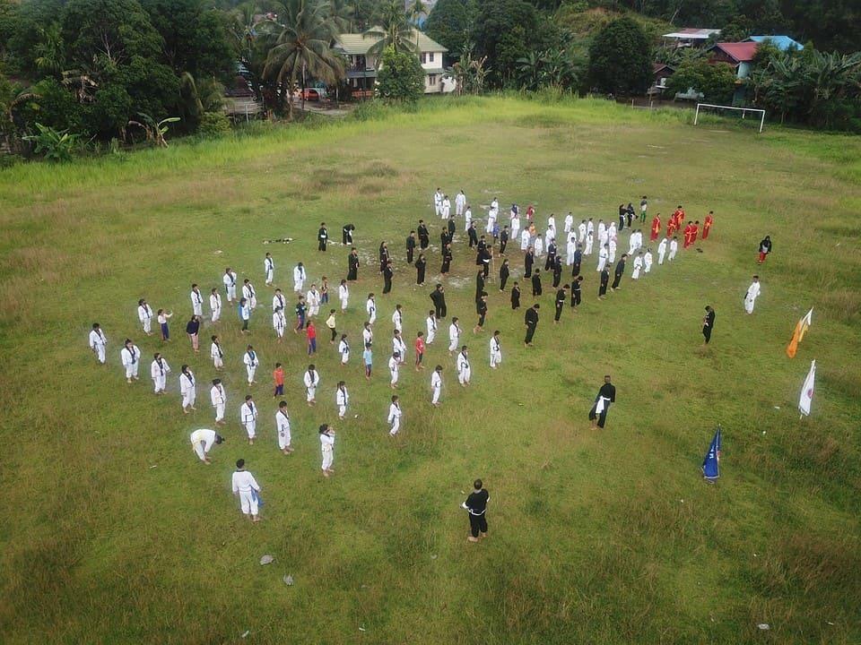 Perkuat Kebersamaan, Satgas Pamtas RI-Malaysia Yonif Raider 200/BN dan Perguruan Bela Diri Latihan Gabungan