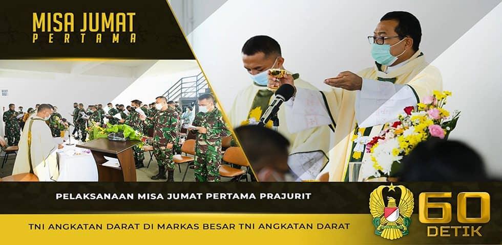 Pelaksanaan Misa Jum'at Pertama Prajurit TNI AD di Markas Besar Angkatan Darat